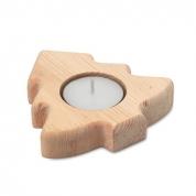 drewniany świecznik choinka, art.14MB44