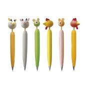 drewniane długopisy z główkami zwierząt 61AL20